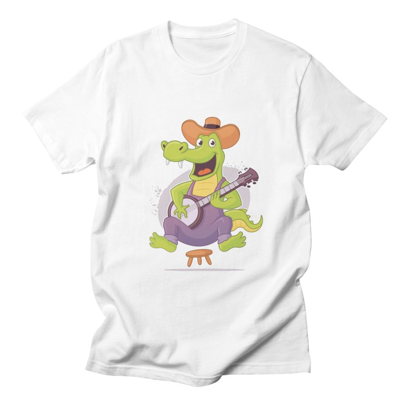 Bluegrass Alligator Men's Regular T-Shirt by zoljo's Artist Shop