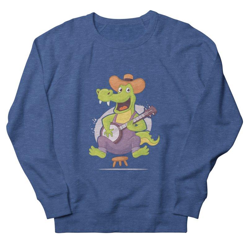 Bluegrass Alligator Women's French Terry Sweatshirt by zoljo's Artist Shop