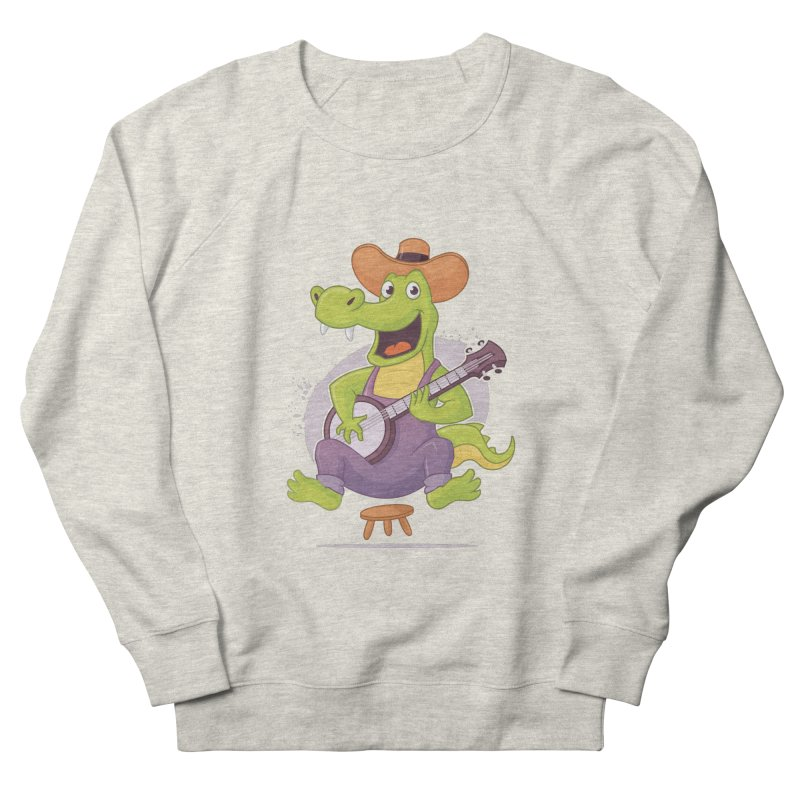 Bluegrass Alligator Women's French Terry Sweatshirt by zoljo's Artist Shop