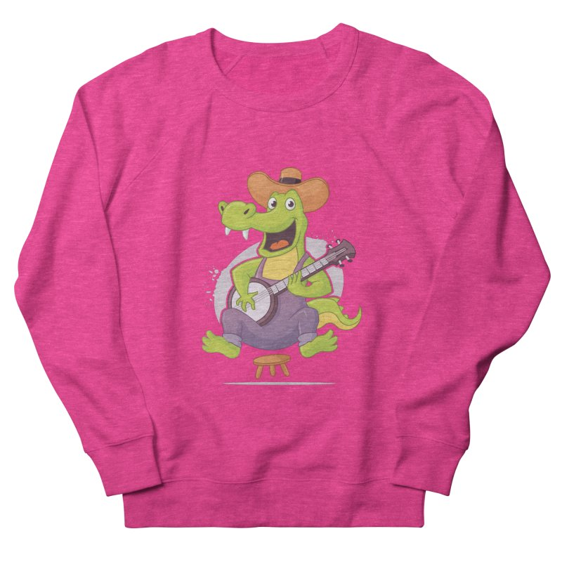 Bluegrass Alligator Men's French Terry Sweatshirt by zoljo's Artist Shop