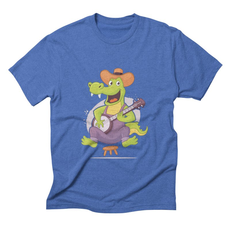 Bluegrass Alligator Men's Triblend T-Shirt by zoljo's Artist Shop