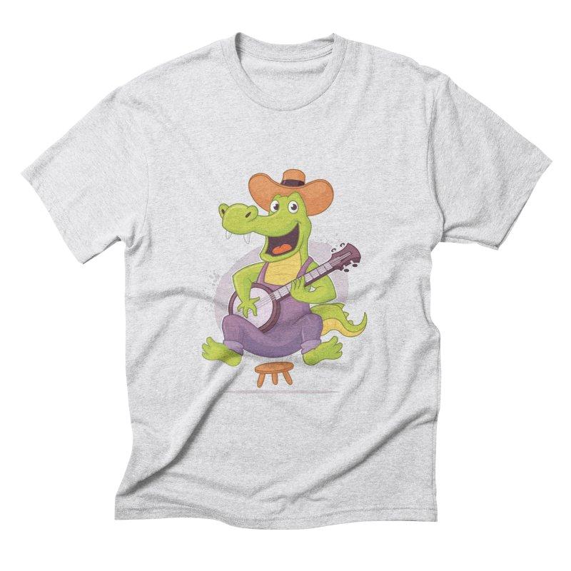 Bluegrass Alligator Men's Triblend T-Shirt by zoljo's Artist Shop