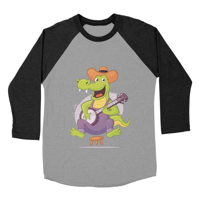 Bluegrass Alligator Women's Baseball Triblend Longsleeve T-Shirt by zoljo's Artist Shop