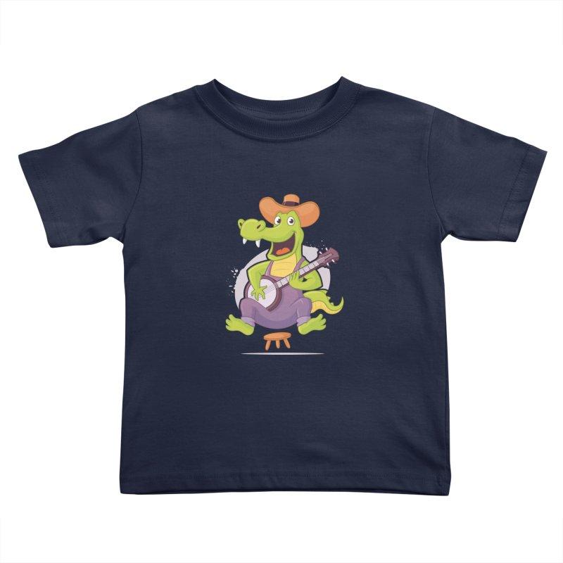 Bluegrass Alligator Kids Toddler T-Shirt by zoljo's Artist Shop