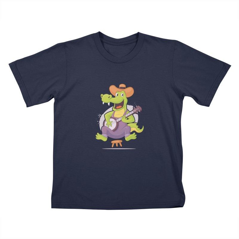 Bluegrass Alligator Kids T-Shirt by zoljo's Artist Shop