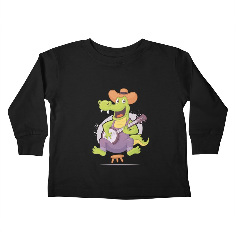 Bluegrass Alligator Kids Toddler Longsleeve T-Shirt by zoljo's Artist Shop