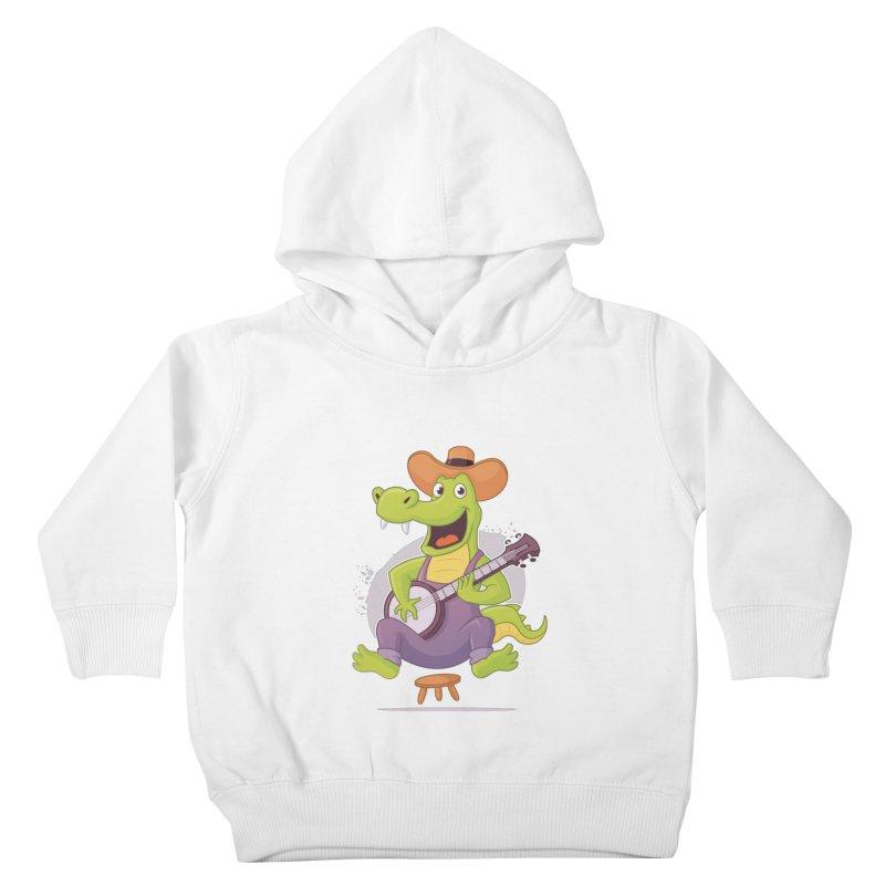 Bluegrass Alligator Kids Toddler Pullover Hoody by zoljo's Artist Shop
