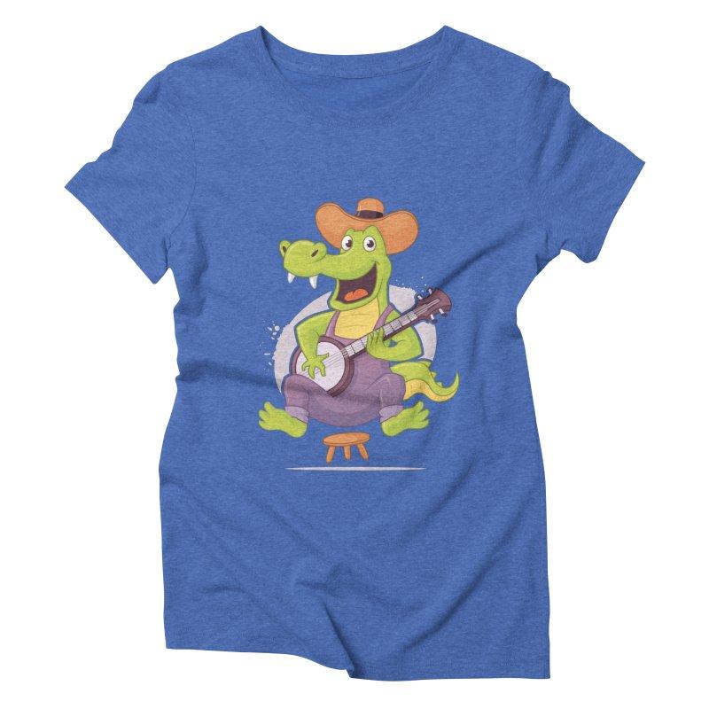 Bluegrass Alligator Women's Triblend T-Shirt by zoljo's Artist Shop