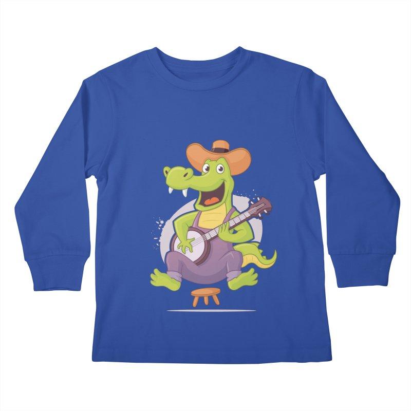 Bluegrass Alligator Kids Longsleeve T-Shirt by zoljo's Artist Shop