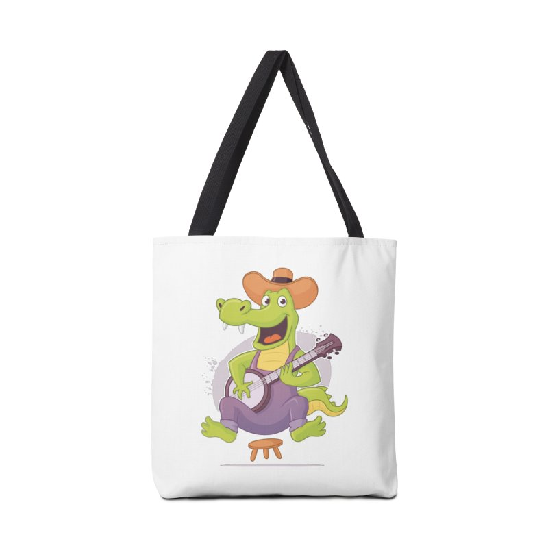 Bluegrass Alligator Accessories Bag by zoljo's Artist Shop
