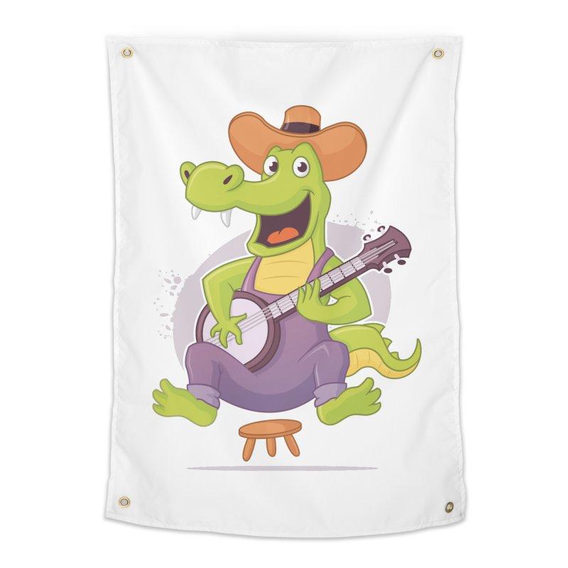 Bluegrass Alligator Home Tapestry by zoljo's Artist Shop