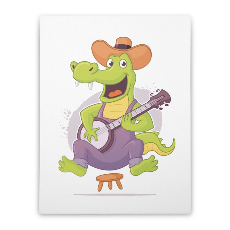 Bluegrass Alligator Home Stretched Canvas by zoljo's Artist Shop