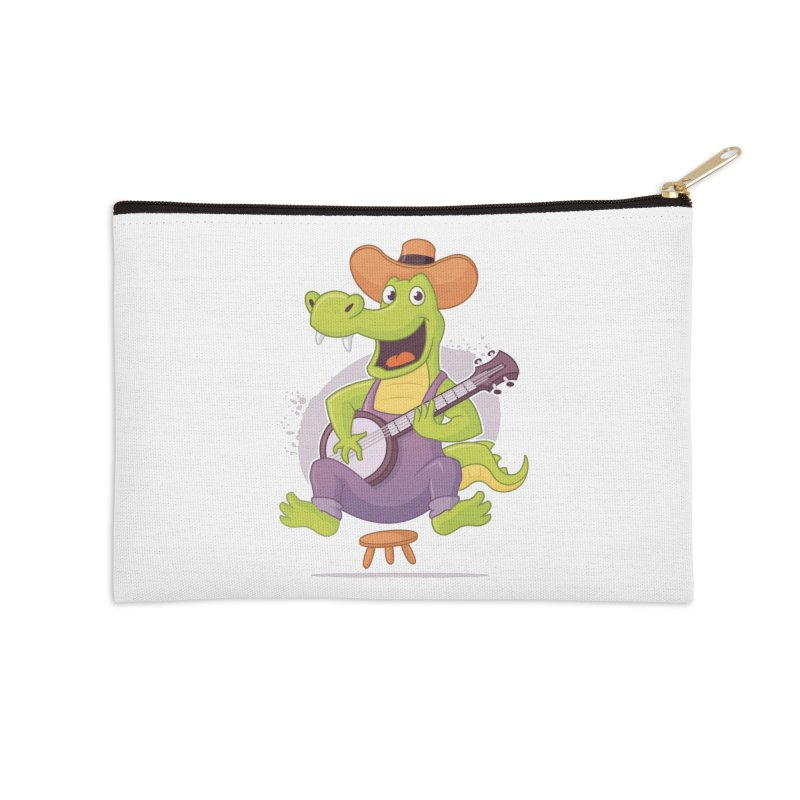 Bluegrass Alligator Accessories Zip Pouch by zoljo's Artist Shop