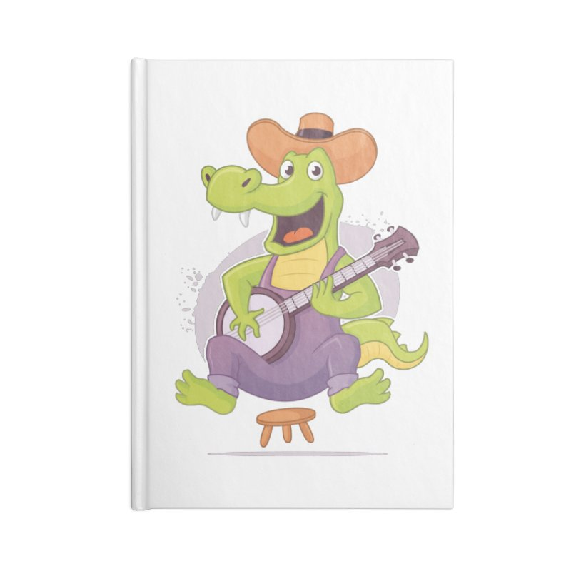Bluegrass Alligator Accessories Blank Journal Notebook by zoljo's Artist Shop