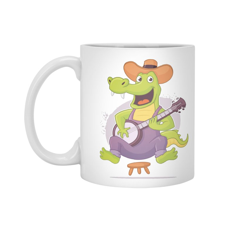 Bluegrass Alligator Accessories Standard Mug by zoljo's Artist Shop