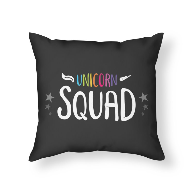 Unicorn Squad Home Throw Pillow by zoljo's Artist Shop