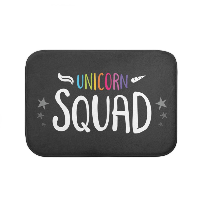 Unicorn Squad Home Bath Mat by zoljo's Artist Shop