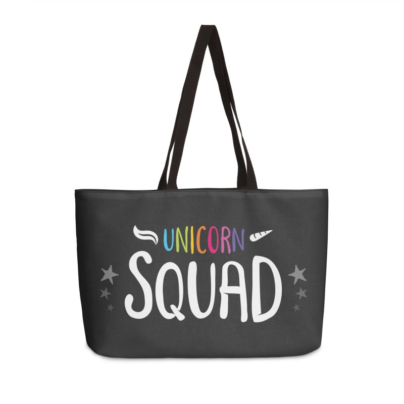 Unicorn Squad Accessories Weekender Bag Bag by zoljo's Artist Shop