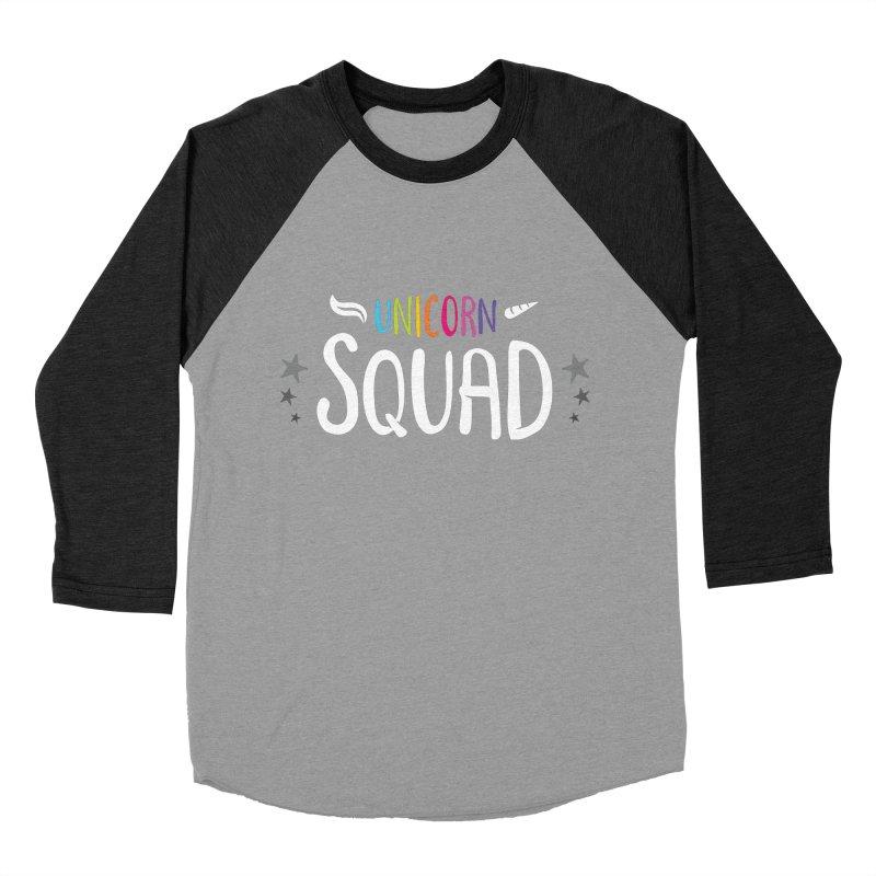 Unicorn Squad Women's Baseball Triblend Longsleeve T-Shirt by zoljo's Artist Shop