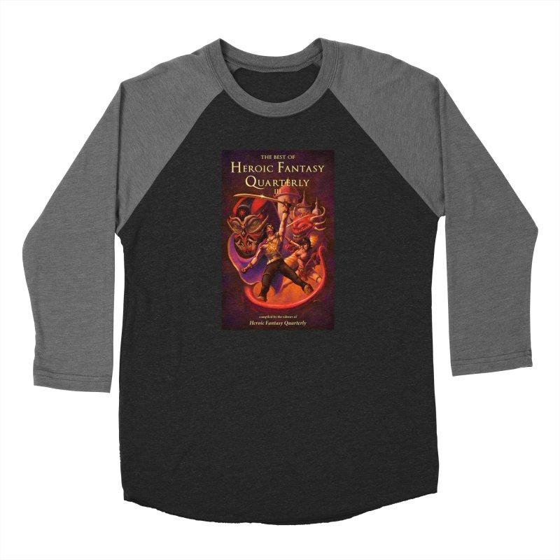 Best of Heroic Fantasy Quarterly 3 Promo Poster Men's Baseball Triblend Longsleeve T-Shirt by ZoltanArt