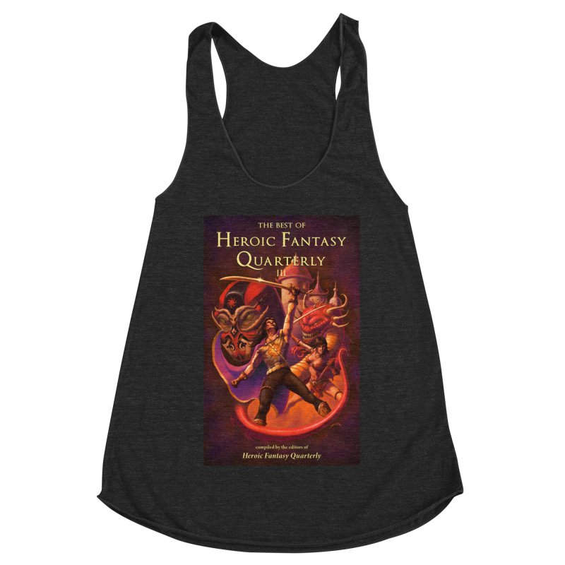Best of Heroic Fantasy Quarterly 3 Promo Poster Women's Racerback Triblend Tank by ZoltanArt