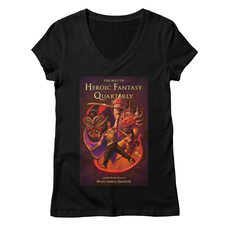 Best of Heroic Fantasy Quarterly 3 Promo Poster Women's Regular V-Neck by ZoltanArt