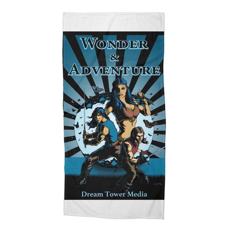 Dream Tower Media Wonder & Adventure T-Shirt Accessories Beach Towel by ZoltanArt