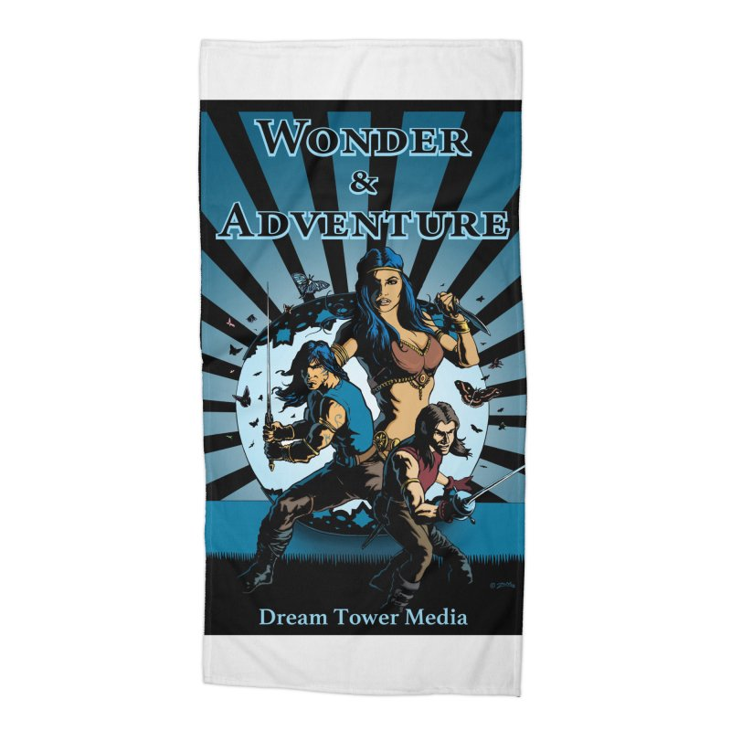 Dream Tower Media Wonder & Adventure T-Shirt Accessories Beach Towel by ZoltanArt