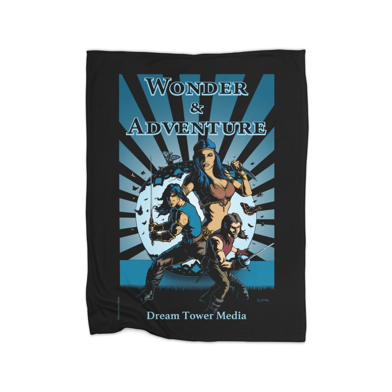 Dream Tower Media Wonder & Adventure T-Shirt Home Fleece Blanket Blanket by ZoltanArt
