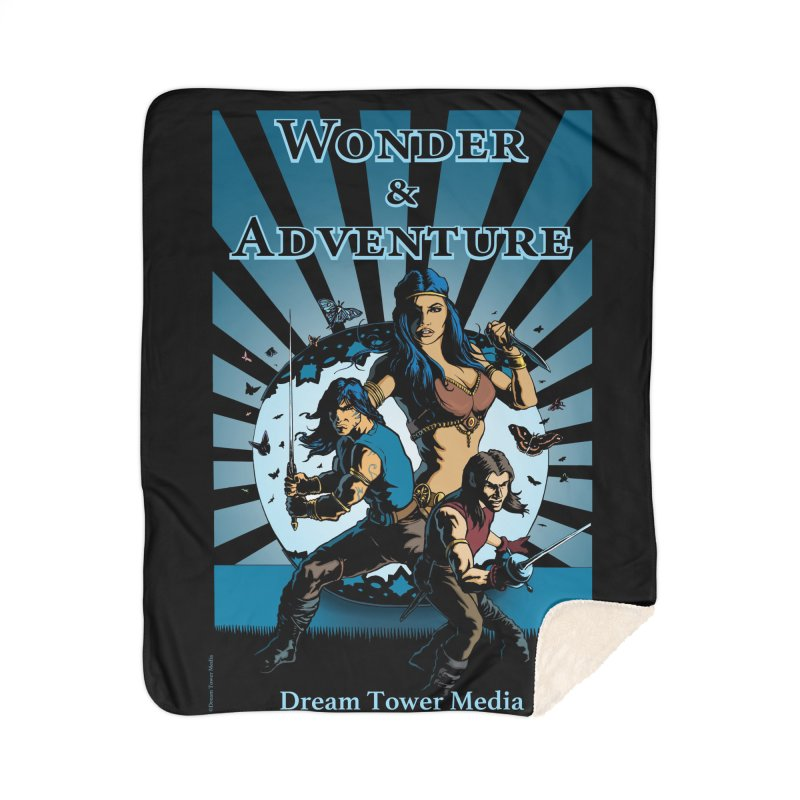 Dream Tower Media Wonder & Adventure T-Shirt Home Sherpa Blanket Blanket by ZoltanArt