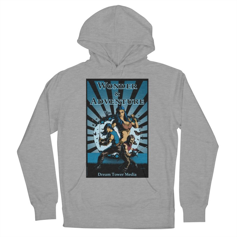 Dream Tower Media Wonder & Adventure T-Shirt Men's French Terry Pullover Hoody by ZoltanArt