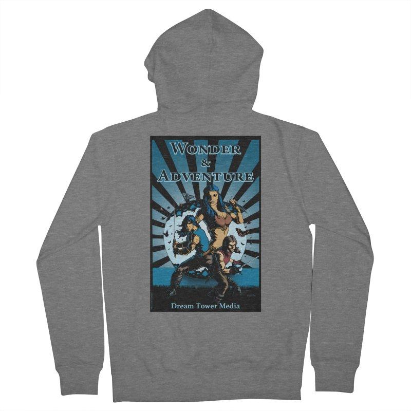 Dream Tower Media Wonder & Adventure T-Shirt Men's French Terry Zip-Up Hoody by ZoltanArt