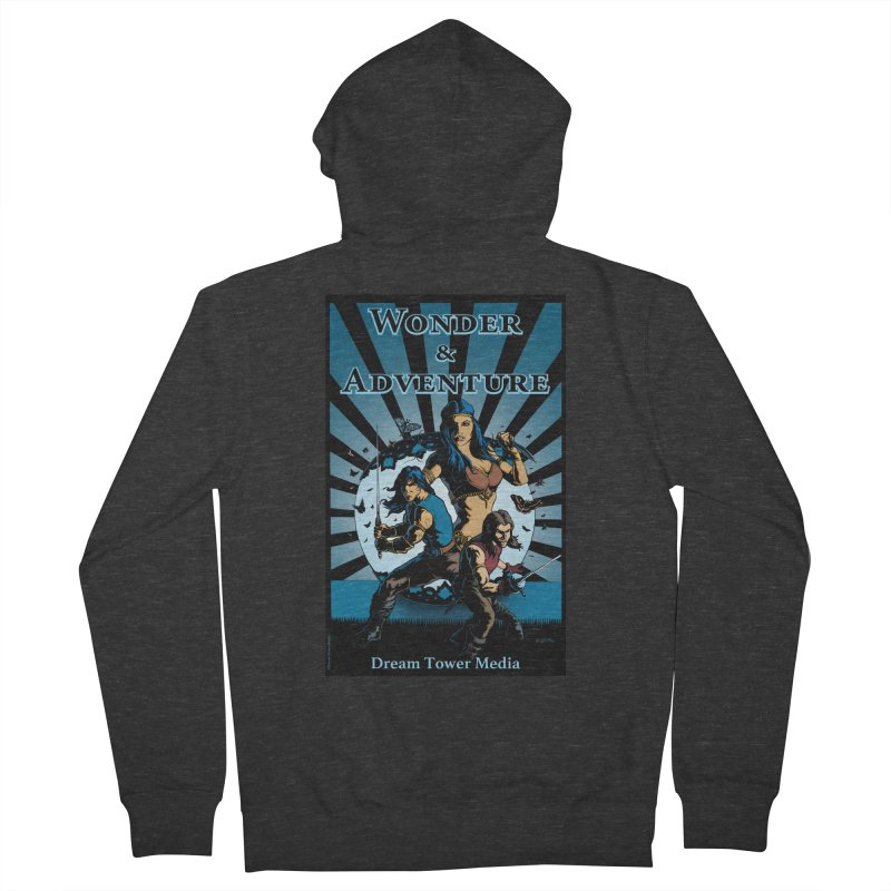 Dream Tower Media Wonder & Adventure T-Shirt Men's French Terry Zip-Up Hoody by ZoltanArt