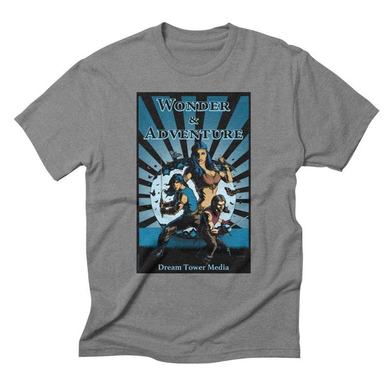 Dream Tower Media Wonder & Adventure T-Shirt Men's Triblend T-Shirt by ZoltanArt