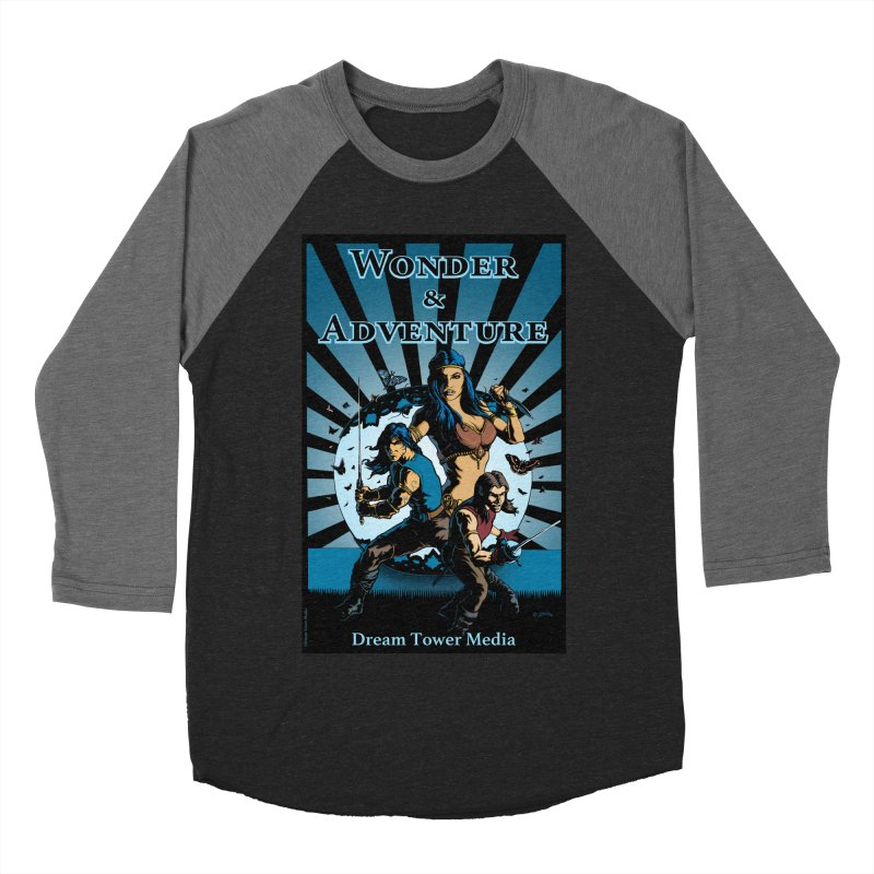 Dream Tower Media Wonder & Adventure T-Shirt Men's Baseball Triblend Longsleeve T-Shirt by ZoltanArt