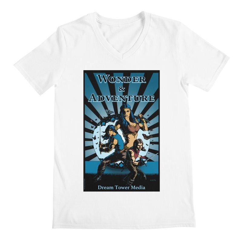 Dream Tower Media Wonder & Adventure T-Shirt Men's Regular V-Neck by ZoltanArt