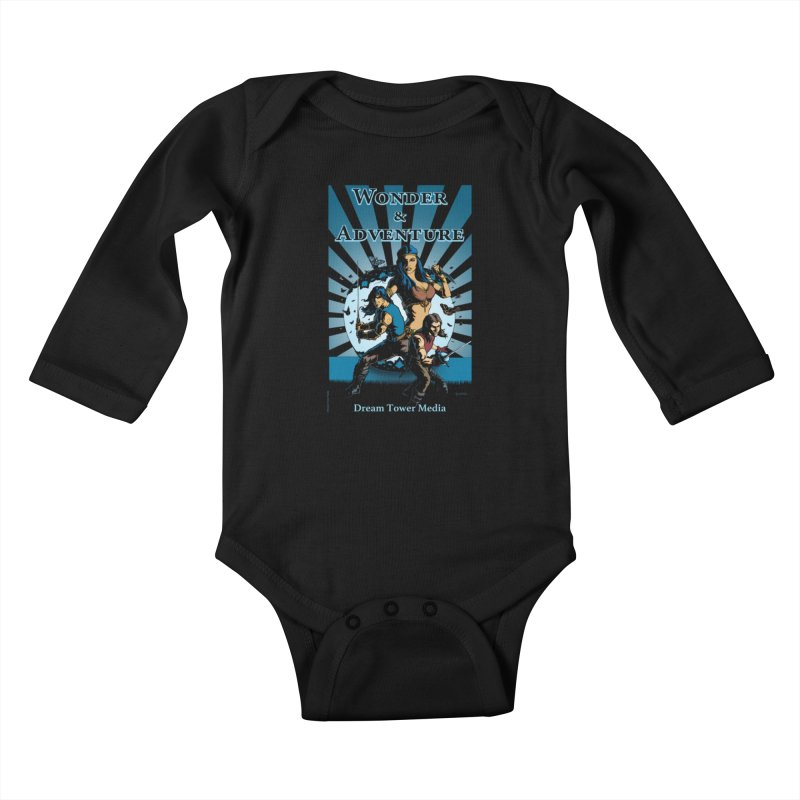 Dream Tower Media Wonder & Adventure T-Shirt Kids Baby Longsleeve Bodysuit by ZoltanArt