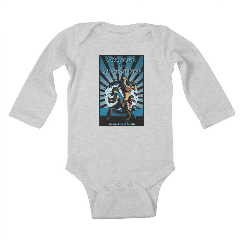 Dream Tower Media Wonder & Adventure T-Shirt Kids Baby Longsleeve Bodysuit by ZoltanArt
