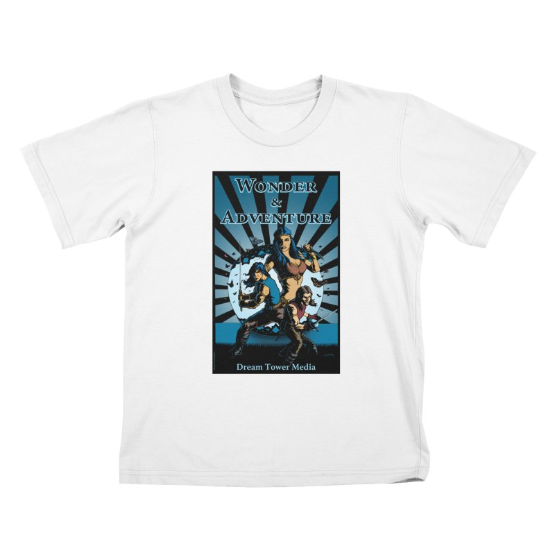 Dream Tower Media Wonder & Adventure T-Shirt Kids T-Shirt by ZoltanArt