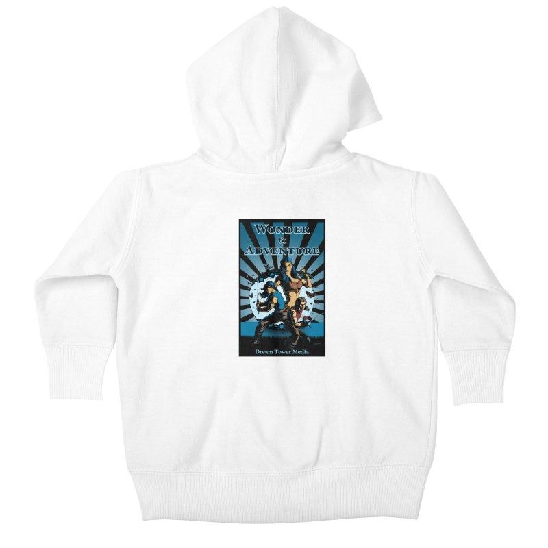 Dream Tower Media Wonder & Adventure T-Shirt Kids Baby Zip-Up Hoody by ZoltanArt