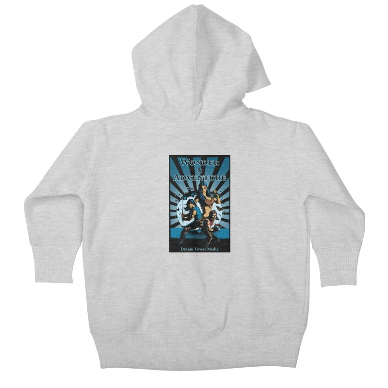Dream Tower Media Wonder & Adventure T-Shirt Kids Baby Zip-Up Hoody by ZoltanArt