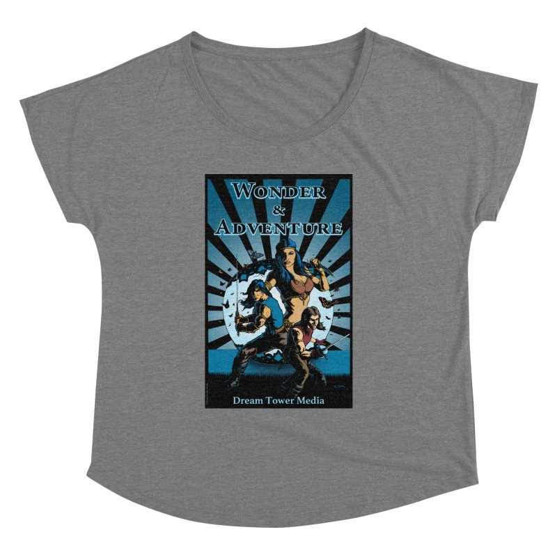 Dream Tower Media Wonder & Adventure T-Shirt Women's Dolman Scoop Neck by ZoltanArt