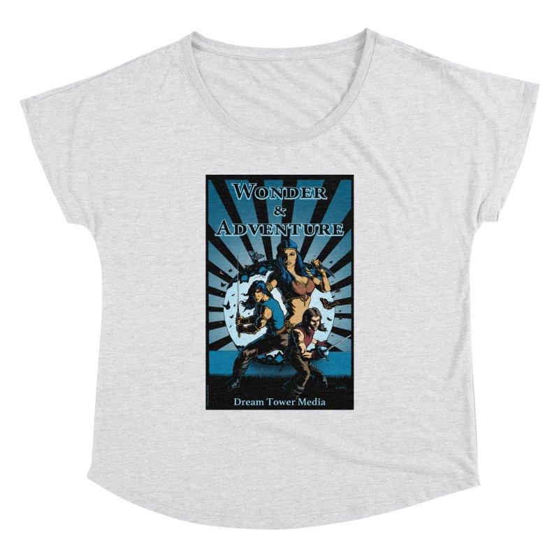 Dream Tower Media Wonder & Adventure T-Shirt Women's Dolman Scoop Neck by ZoltanArt