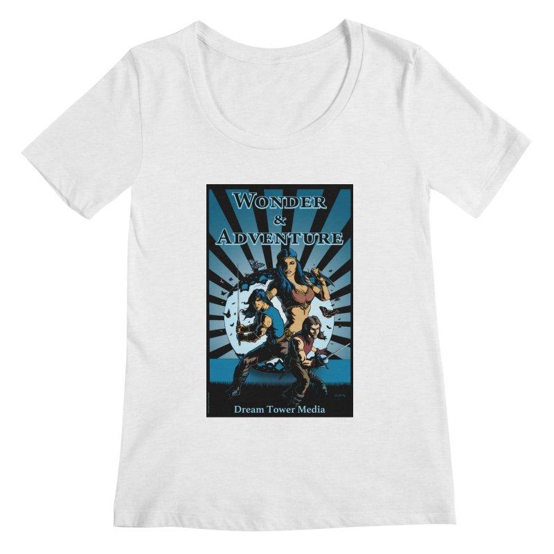 Dream Tower Media Wonder & Adventure T-Shirt Women's Regular Scoop Neck by ZoltanArt