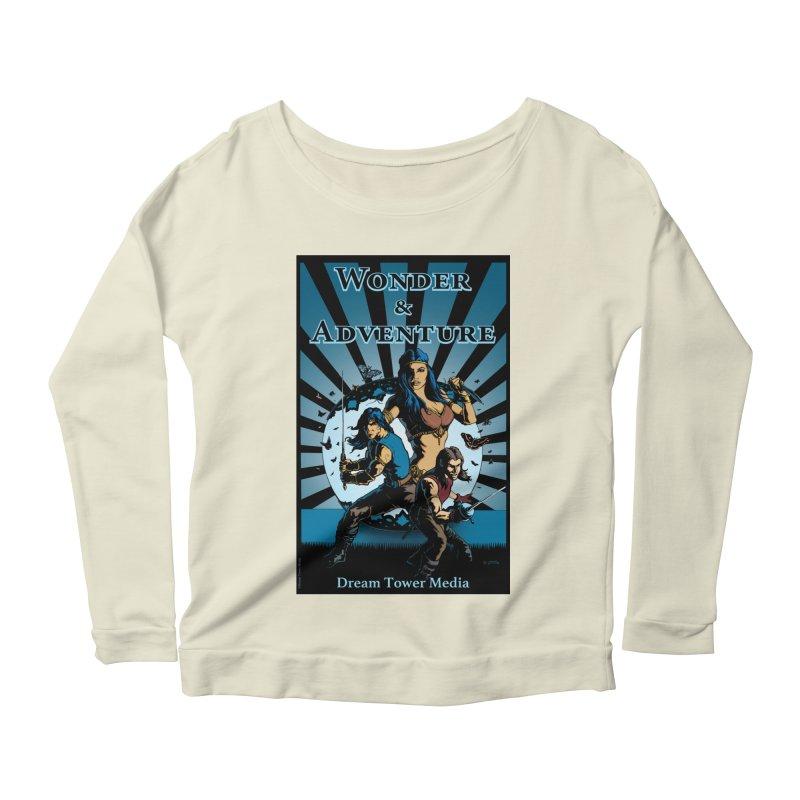 Dream Tower Media Wonder & Adventure T-Shirt Women's Scoop Neck Longsleeve T-Shirt by ZoltanArt