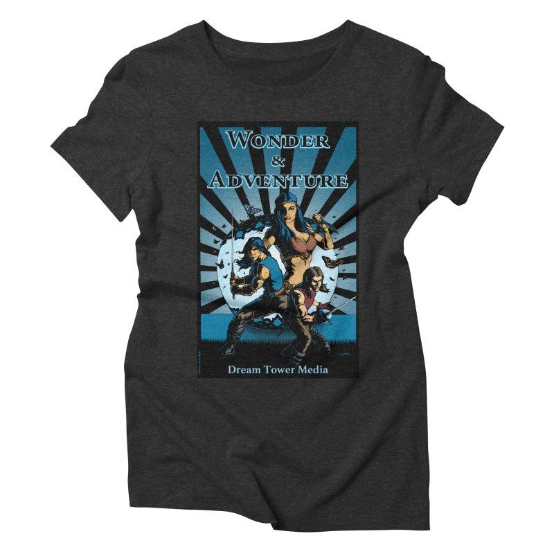Dream Tower Media Wonder & Adventure T-Shirt Women's Triblend T-Shirt by ZoltanArt