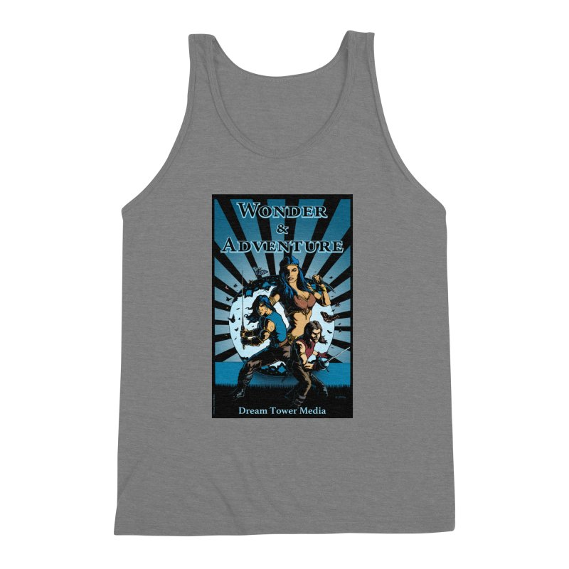 Dream Tower Media Wonder & Adventure T-Shirt Men's Triblend Tank by ZoltanArt