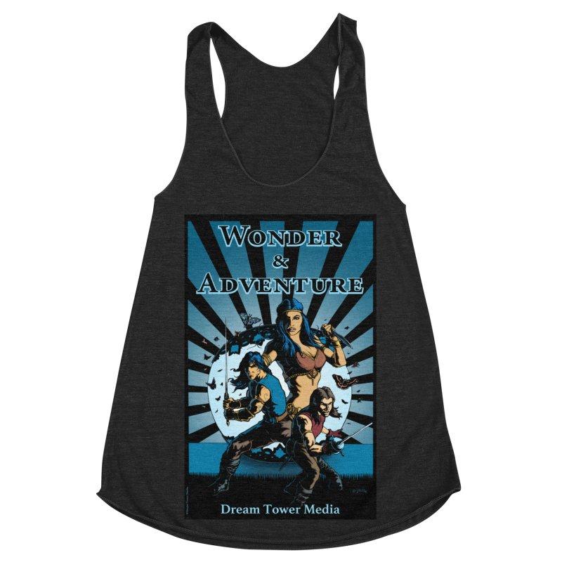 Dream Tower Media Wonder & Adventure T-Shirt Women's Racerback Triblend Tank by ZoltanArt