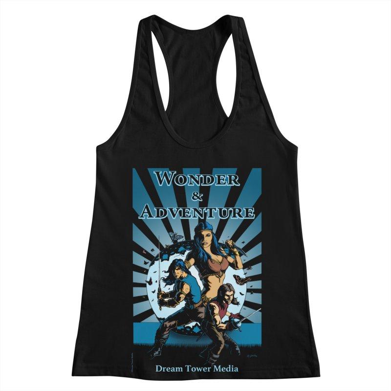 Dream Tower Media Wonder & Adventure T-Shirt Women's Racerback Tank by ZoltanArt
