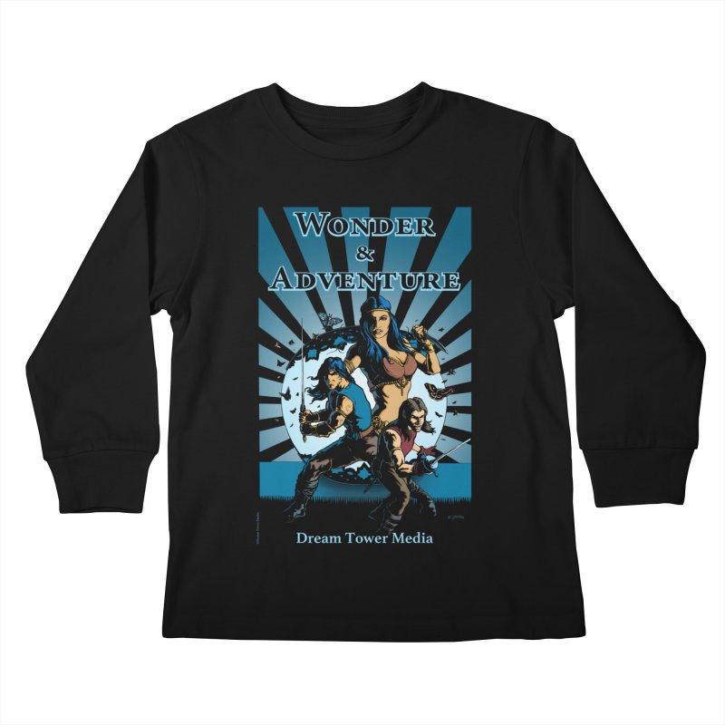 Dream Tower Media Wonder & Adventure T-Shirt Kids Longsleeve T-Shirt by ZoltanArt